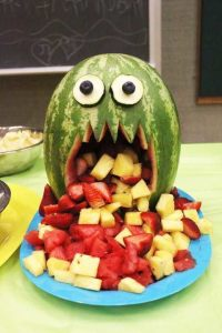64-Non-Candy-Halloween-Snack-Ideas-monster-melon